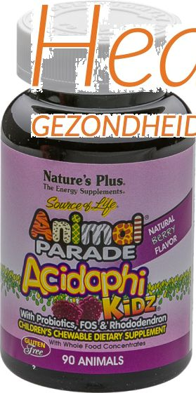 natures plus animal parade acidophi kidz 90 kauwtabl