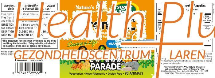 natures plus animal parade c 90 kauwtablet