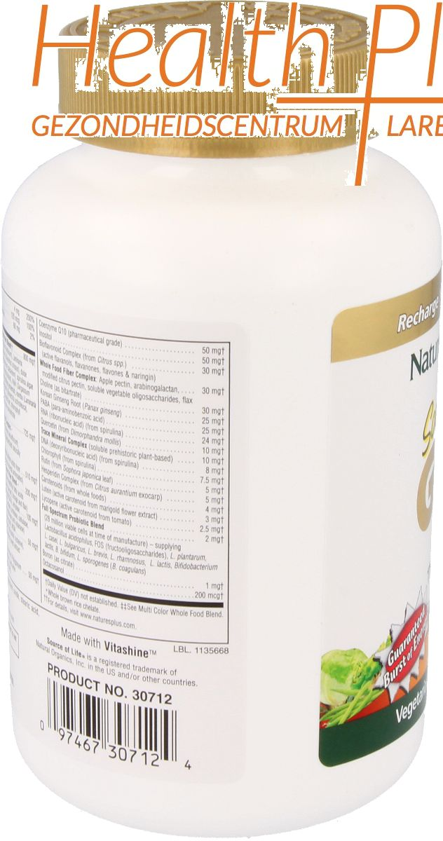 natures plus source of life gold 180 tab