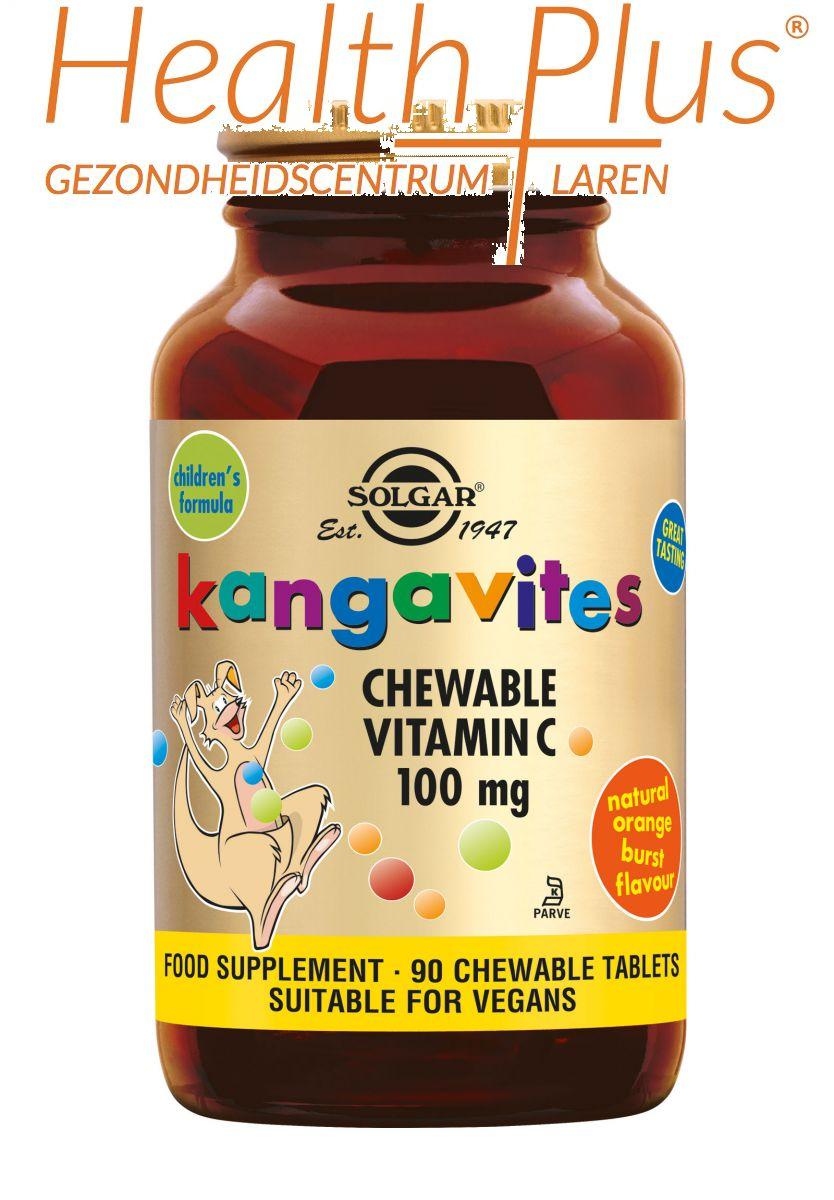 solgar kangavites vitamine c 100mg 90 chewable
