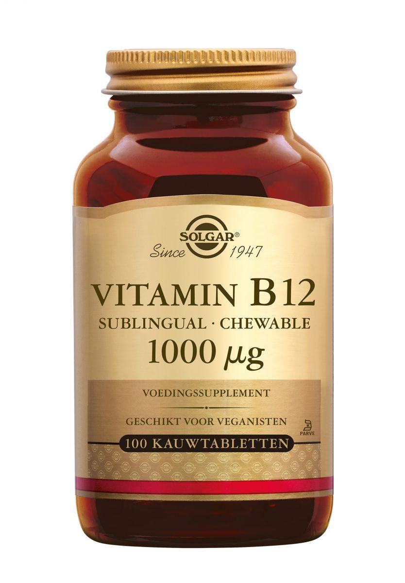 solgar vitamin b12 1000 ug 100 kauwtabletten