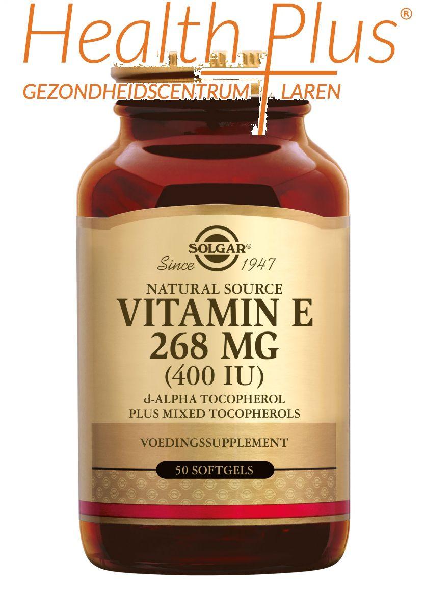 solgar vitamine e 268mg 400iu complex 50 softgels