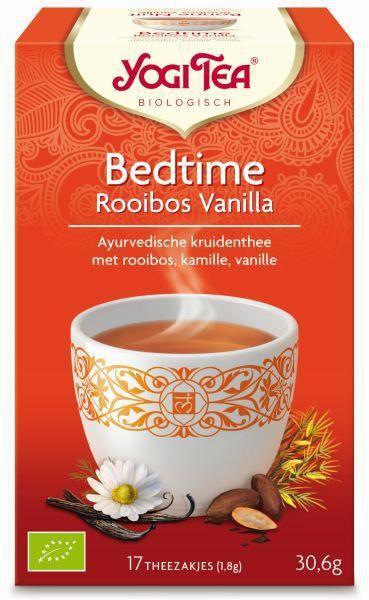 yogi tea bedtime rooibos vanilla biologisch 17 zakjes