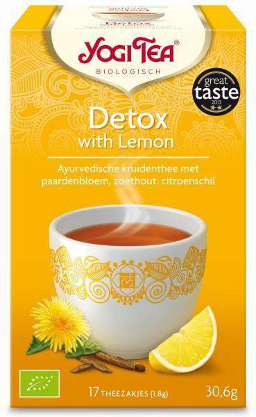 yogi tea detox with lemon biologisch 17 zakjes