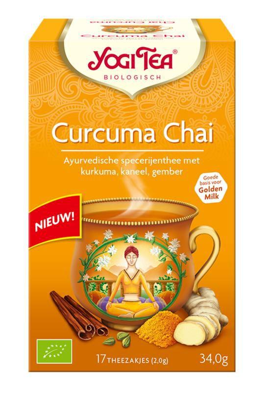 yogi tea curcuma chai biologisch 17 zakjes