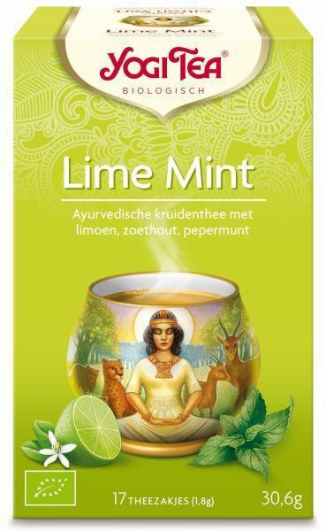 yogi tea lime mint biologisch 17 zakjes